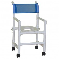 "MJM 18"" X 18"" PVC Shower Chair - Blue"