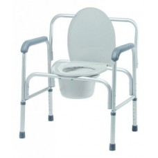 Lumex 3 in 1 Commode With Arms Aluminum Frame 18 to 23 Inch Height