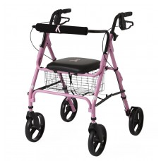 "Medline Breast Cancer Awareness Rollator with 8"" Wheels - Pink"