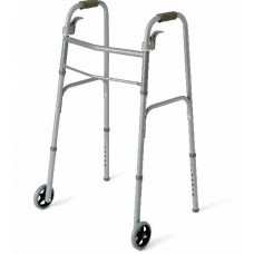 "Medline Adult Folding Paddle Walkers with 5"" Wheels"