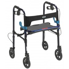 "Drive Medical Adult Clever-Lite Walker with 8"" Casters"