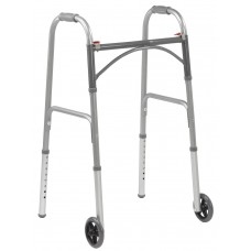 "Drive Medical Competitive Edge 2-Button Walker with 5"" Wheels ( CASE OF 4 )"